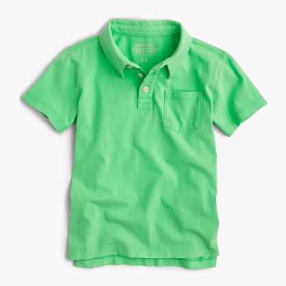 Boys' jersey polo shirt