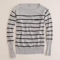 Cashmere stripe boatneck sweatshirt