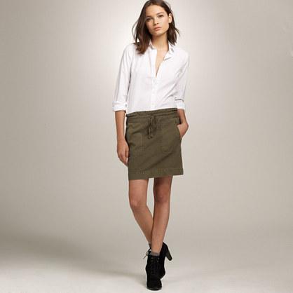 Canvas military skirt