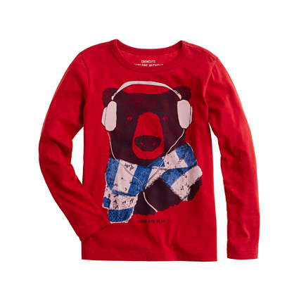 Boys' long-sleeve grin and bear it tee