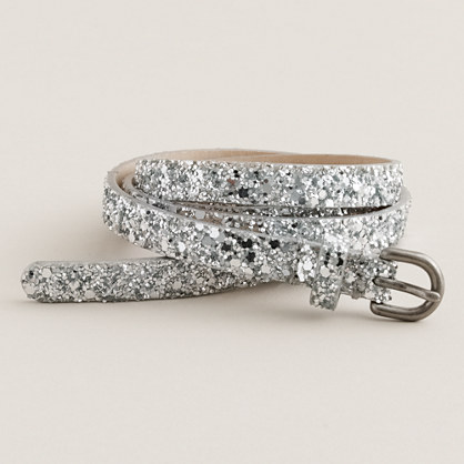Superskinny glitter belt