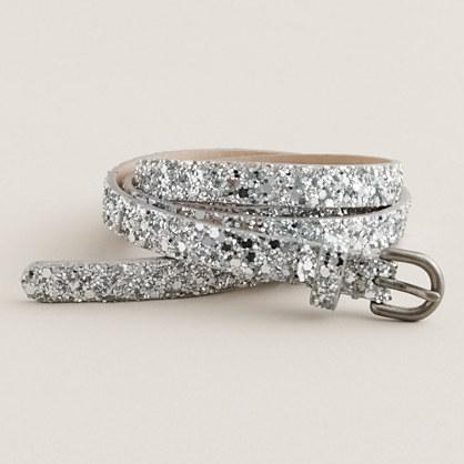 Superskinny glitter belt