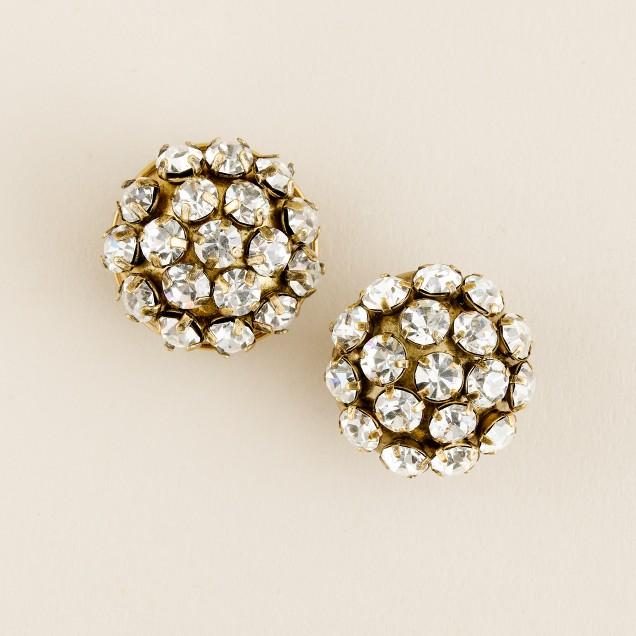 Crystal pebble earrings