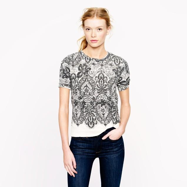 Lace-printed sweatshirt