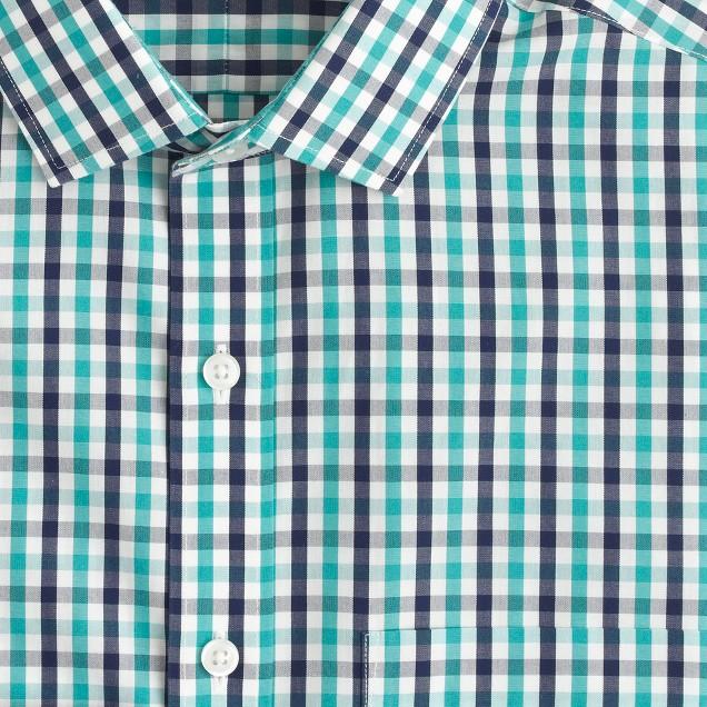 Slim Ludlow Traveler  shirt in tropical pool