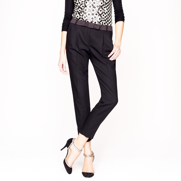 Collection bow-belt pant