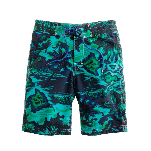 Boys' floral Hawaiian vista board shorts