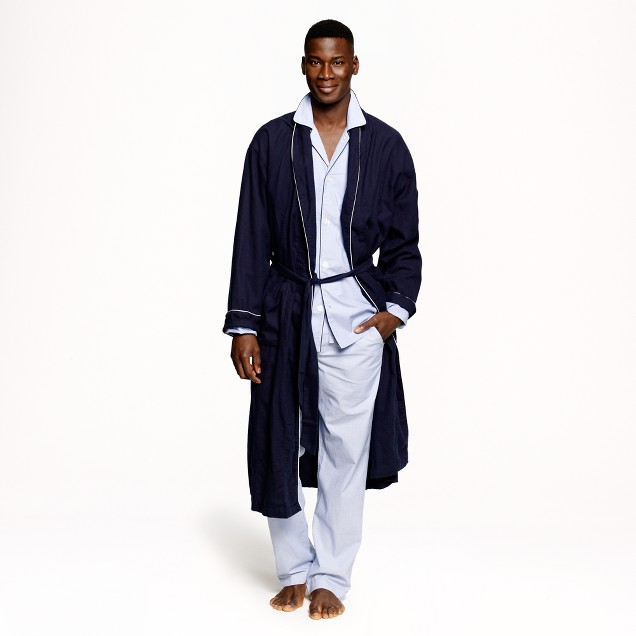 Flannel robe
