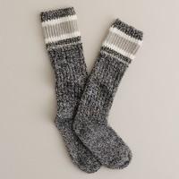 Contrast top camp socks