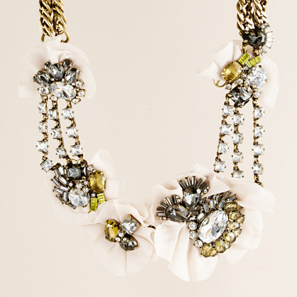 Crystal bloom necklace