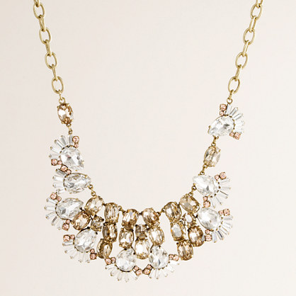 Crystal winged cluster necklace