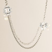 Crystal broochette necklace
