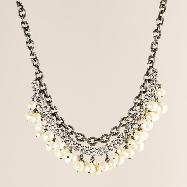 Pearl snowfall necklace