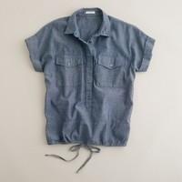Chambray cinch shirt