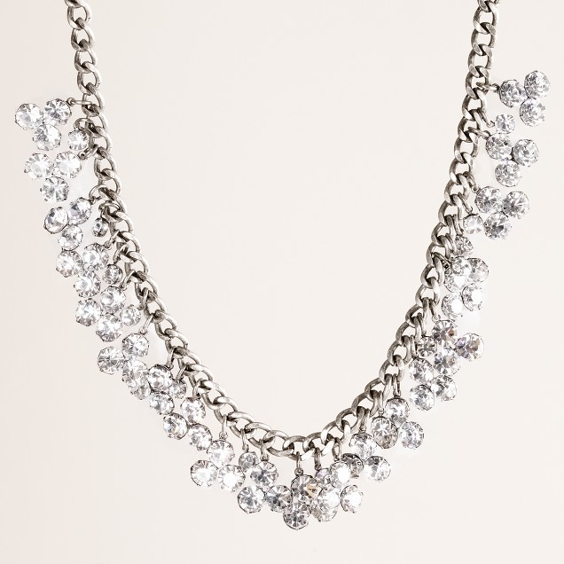 Floating crystal necklace
