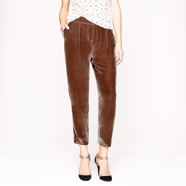 Collection cropped velvet pant