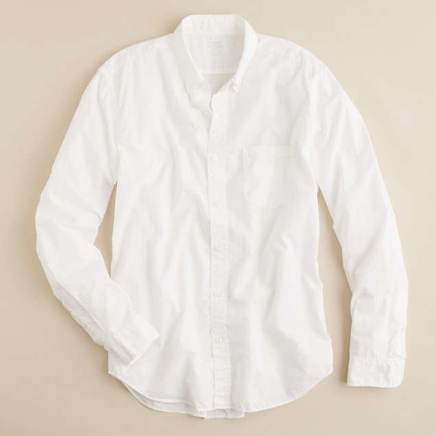 Slim Secret Wash lightweight shirt in white
