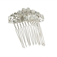 Tiered crystal comb