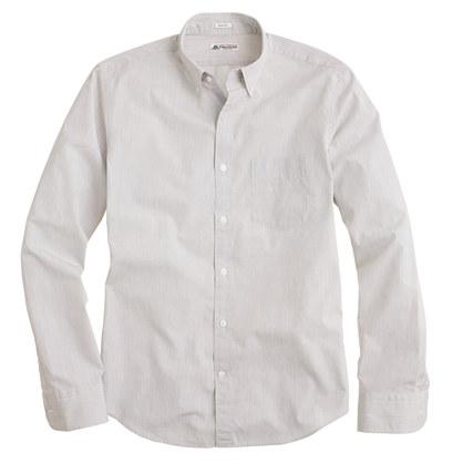 Slim Thomas Mason® for J.Crew shirt in charcoal stripe