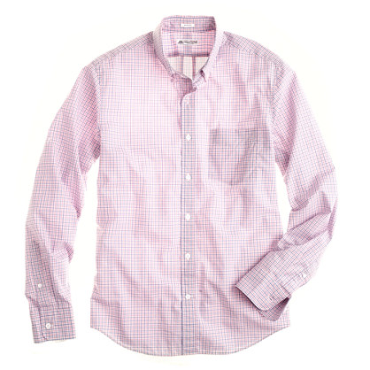 Slim Thomas Mason® for J.Crew shirt in peppermint tattersall