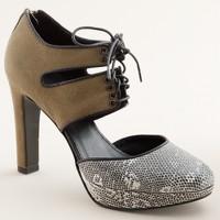 Gibson lace-up platform heels