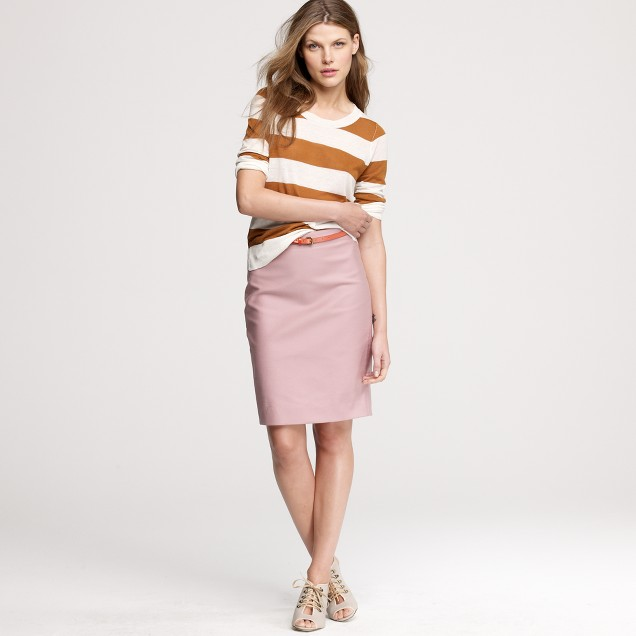 No. 2 pencil skirt in double-serge cotton : Women pencil | J.Crew