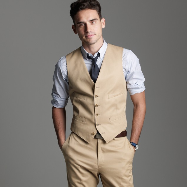 Suit vest in chino