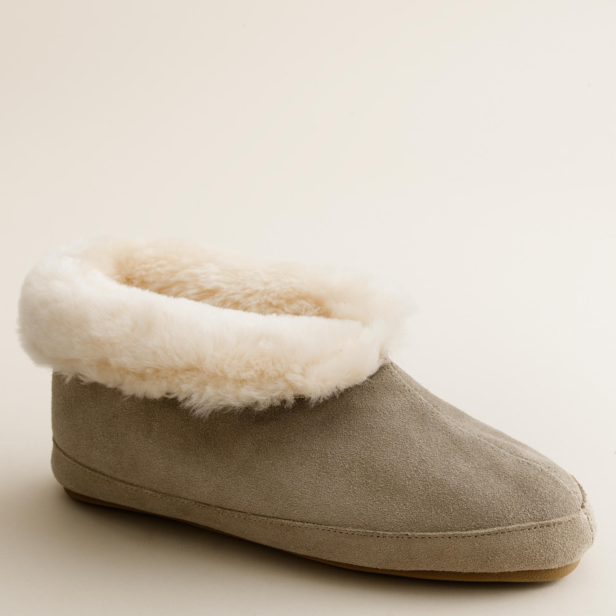 shearling slippers j crew