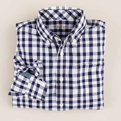 Boys' shirt in Quincy check