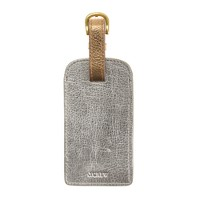Colorblock leather luggage tag