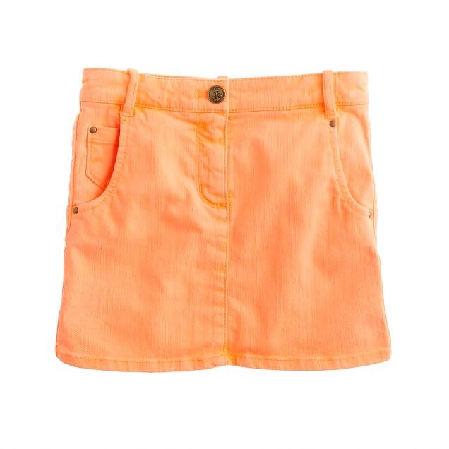 Girls' garment-dyed denim mini