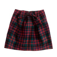 Girls' tartan bow skirt