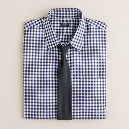 Point-collar dress shirt in medium gingham