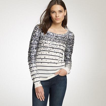 Merino confetti stripe sweater