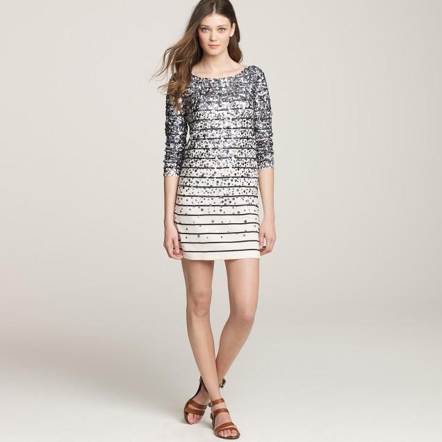 Merino confetti stripe sweater-dress
