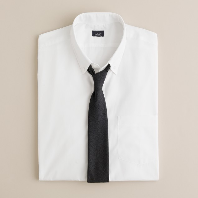 Button-down broadcloth dress shirt