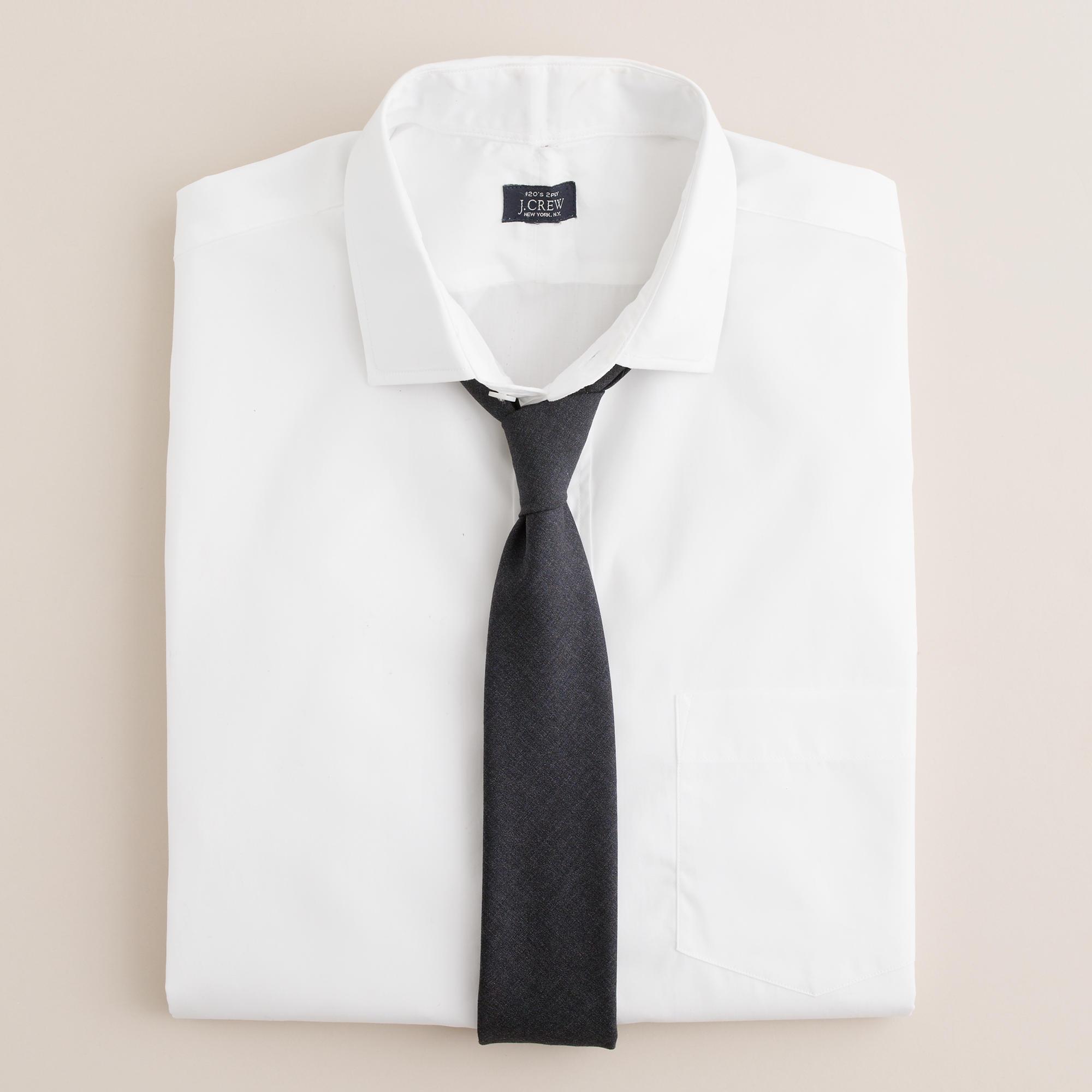 Spread Collar Dress Shirt In White J Crew