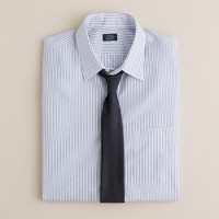 Point-collar dress shirt in poplar stripe
