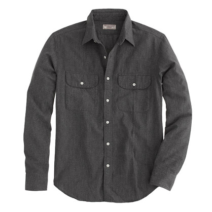 Wallace & Barnes covert twill selvedge shirt