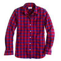 Boy shirt in poppy plaid