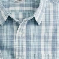 Slub cotton point-collar shirt in Kearney plaid