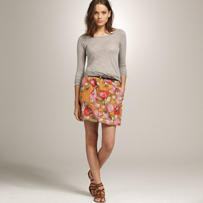 Poppy waterfloral skirt