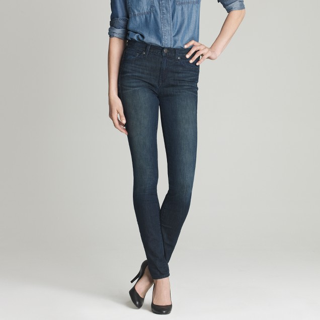 High-waisted skinny jean in night owl wash