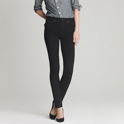 High-waisted skinny jean in pitch black wash