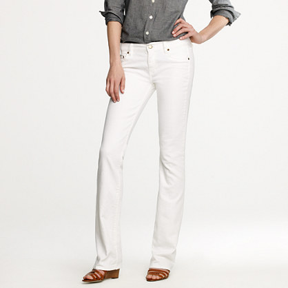 Bootcut jean in white denim : bootcut | J.Crew