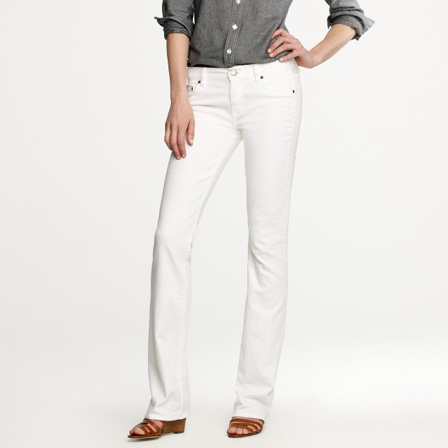 Bootcut jean in white denim