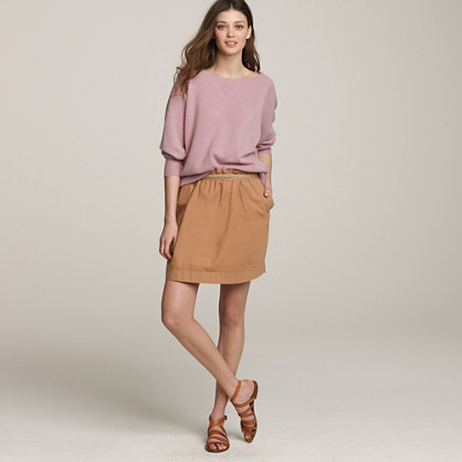 Cotton bell skirt