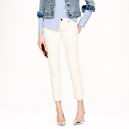 Cropped vintage straight jean in ecru
