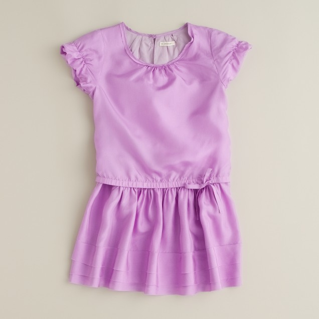 Girls' silk firefly dress