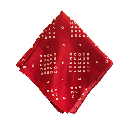 Silk diamond pocket square